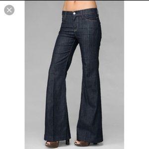 7 For All Mankind Dark Wide leg Trouser Jeans 29
